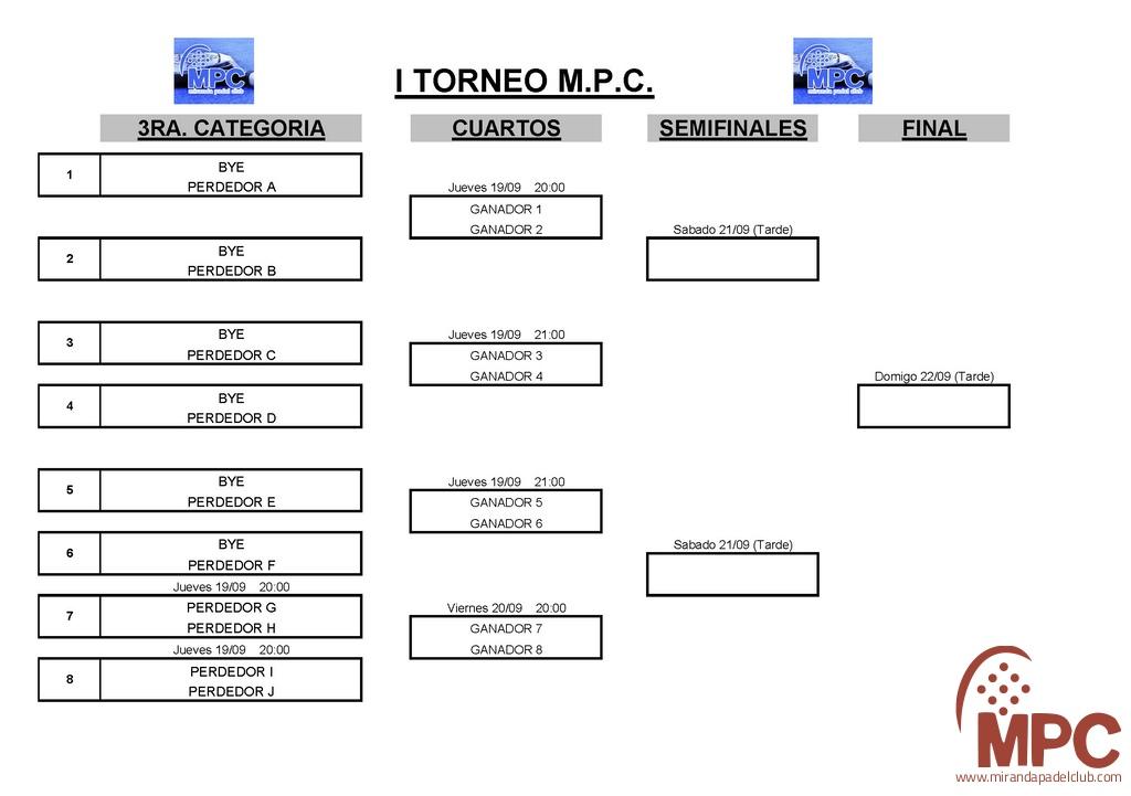I TORNEO MPC - 3ª Categoría
